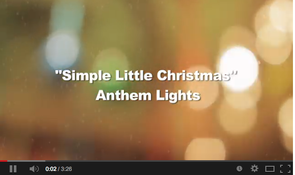 anthem light christmas is here lyrics